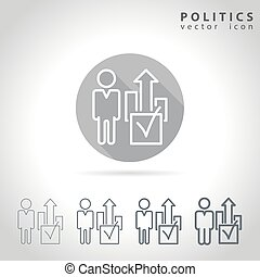 Politics outline icon