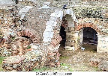 Roman Agora. Ruins. Thessaloniki