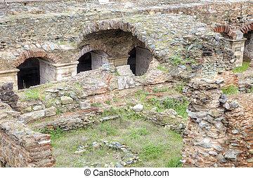 Roman Agora Ruins Thessaloniki