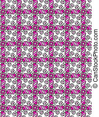 Illustrated repetitive pattern