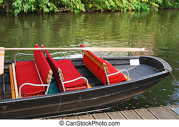 spreewald boat - old boat for sightseeing boat trip in...