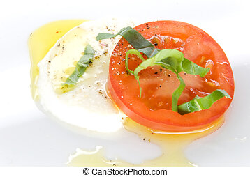 mozzarella tomato oil