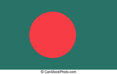 Flag of Bangladesh in correct proportions and colors