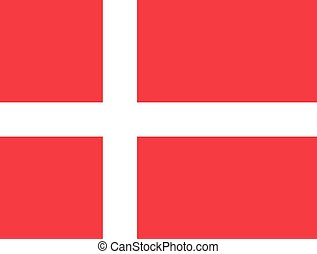 Flag of Denmark in correct proportions and colors