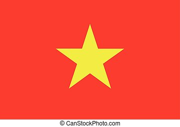 Flag of Vietnam - Vietnamese flag in correct proportions and...