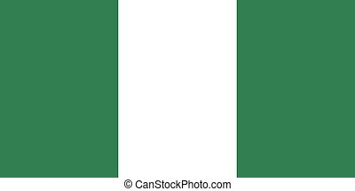 Flag of Nigeria - Nigerian flag in correct proportions and...