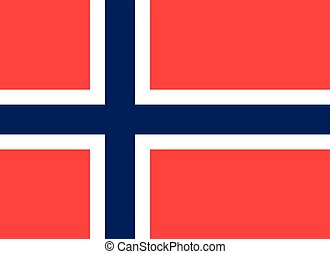 Flag of Norway in correct proportions and colors