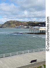 Aberystwyth seaside town in Wales UK.