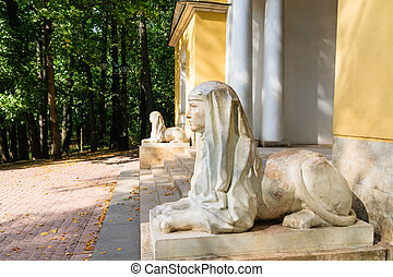 Sphinx at the pavilion quot;MILOVIDOV , Museum-Reserve...
