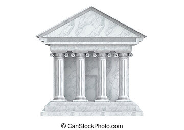 Ancient Colonnade Building, 3D rendering