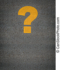 Question Mark Road Markings - Conceptual Image Of A Question...
