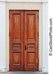 Handmade Wooden Double Door - Antique, handmade, wooden...