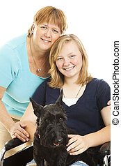 Family Pet - Mother, disabled teen daughter and their Scotty...