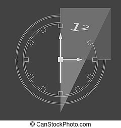 Abstract clock isolated on background Vector illustration...