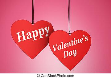 coeur,  s, heureux, jour, valentin