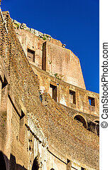 Details of Colosseum or Flavian Amphitheatre in Rome, Italy