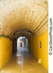 Alleyway in Mola di Bari Oldtown. Apulia.