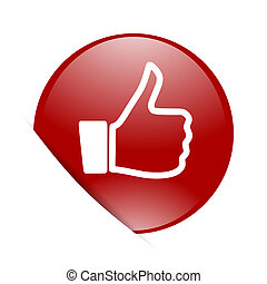 like red circle glossy web icon