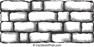 brick wall - black brick wall