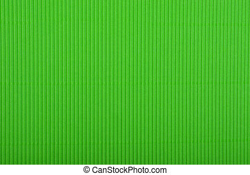 Crinkled cardboard background - Close up of green crinkled...