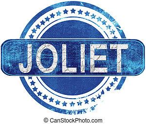 joliet grunge blue stamp. Isolated on white. - joliet stamp,...