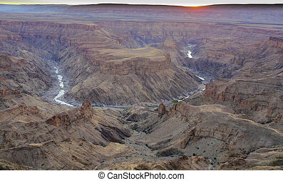 Fish River Canyon - scenic view to Fish River Canyon in...