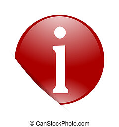 information red circle glossy web icon