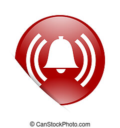 alarm red circle glossy web icon