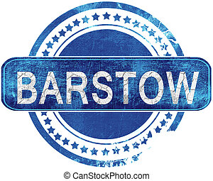 barstow grunge blue stamp. Isolated on white. - barstow...