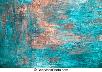 Blue concrete plaster wall background