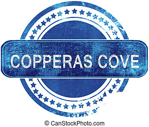copperas cove grunge blue stamp Isolated on white - copperas...