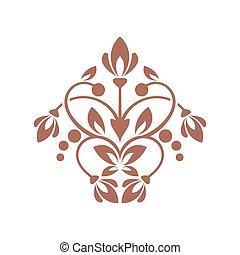 Floral element for design.