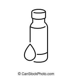 line icons Medical Pharmacist, potion bottles icon