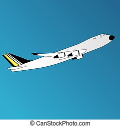 plane take off - White plane take off poster on the...