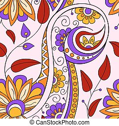 Tribal ethnic background. Hand-drawn vector doodles,...