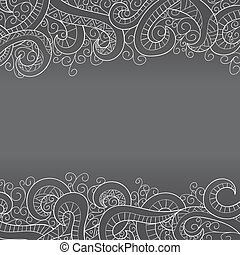 Background with doddle pattern