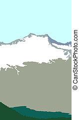 Snowmass Mountain illustration