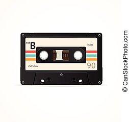 Cassette Tape Old. Vector - Cassette Tape Old. Side B Vector...