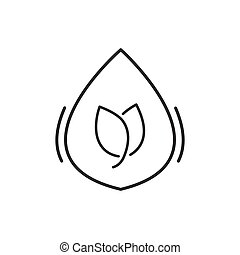 Line Icon Style, Herbal medicine liquid drug icon