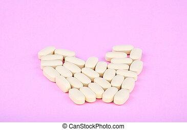VIH, terapia, efavirenz, en, rosa, Plano de fondo,