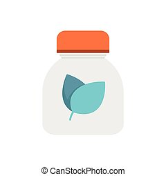 Flat Icon Herbal medicine bottles icon