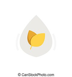 Flat Icon Herbal medicine liquid drug icon