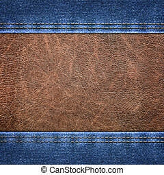 background combined denim close-up
