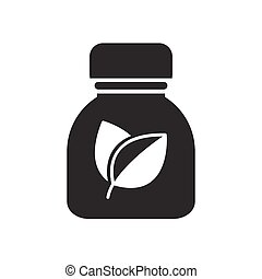 Bold Icon Herbal medicine bottles icon