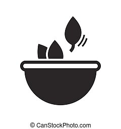 Bold Icon Herbs in bowls icon