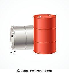 Oil Barrel Drums. Vector - Blank Color Oil Barrel Drums....