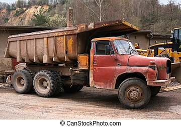Old truck - Very old truck in a gravel pit