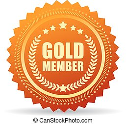 Gold member seal icon