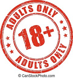 Under 18 rubber stamp, adults only