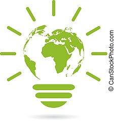 Green energy icon - Green energy earth icon